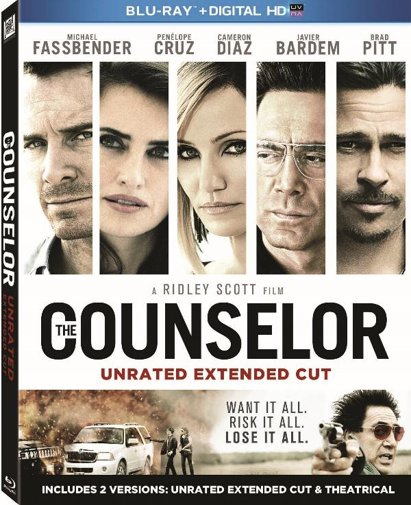 The Counselor arrives on Digital HD on February 4th and Extended Cut Blu-ray Combo Pack and DVD February 11th.