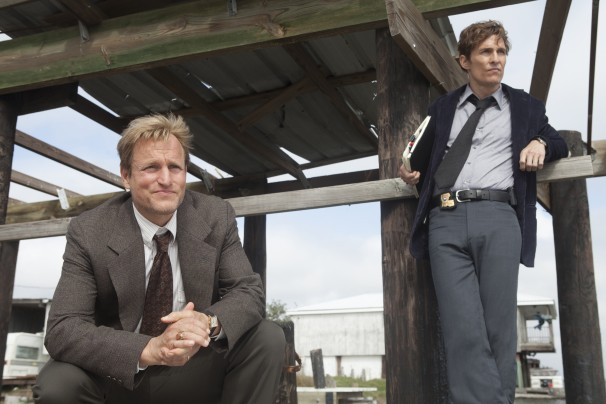 "JIm Bridges/Jim Bridges/HBO - Woody Harrelson and Matthew McConaughey in HBO's ""True Detective."""