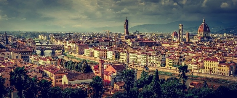 A panorama of Florence