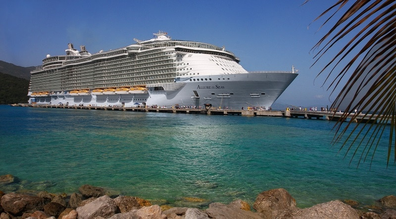 Allure of the Seas in port