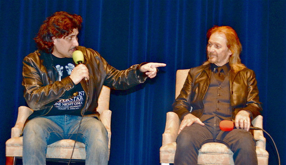 "Frank Munoz and Ted Neeley - ""Jesus Christ Superstar"" 40th Anniversary Screening Tour  - Christopher B. Smith Rafael Film Center at the California Film Institute  - San Rafael, CA, USA  Photo copyright by Jonathan  Shensa / PR Photos"