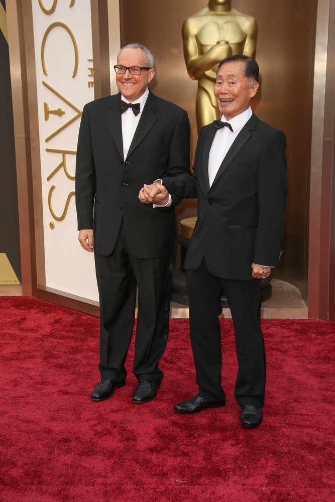 George Takei, husband Brad Altman - 86th Annual Academy Awards - Arrivals - Hollywood & Highland Center - Hollywood, CA, USA  Photo copyright by Andrew Evans  / PR Photos