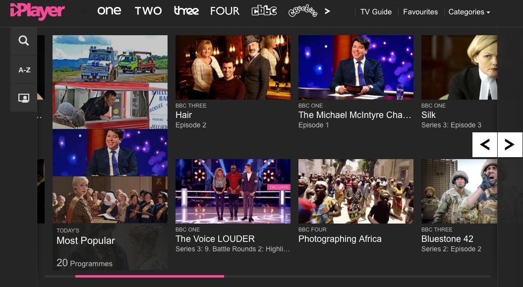 The new BBC iPlayer.