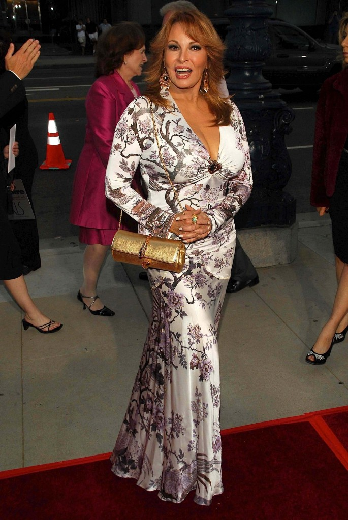 Raquel Welch at the premiere of