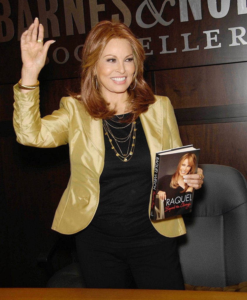 Raquel Welch during the signing of her new book RAQUEL: BEYOND THE CLEAVAGE, held at Barnes & Noble at The Grove, on April 6, 2010, in Los Angeles. Photo: Michael Germana / Star Max