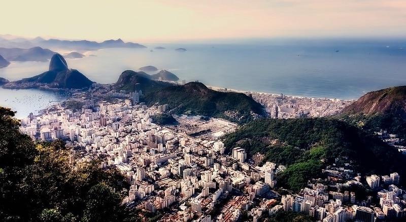 View of Rio de Janeiro from a hilltop