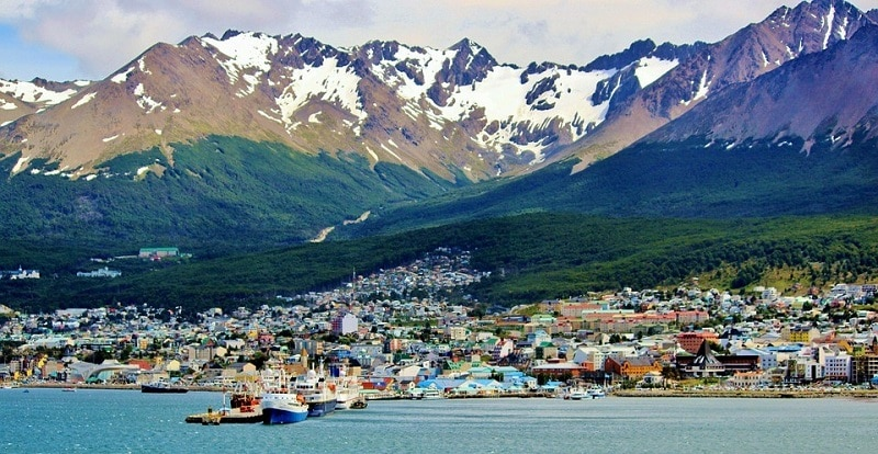 The harbor at Ushuaia