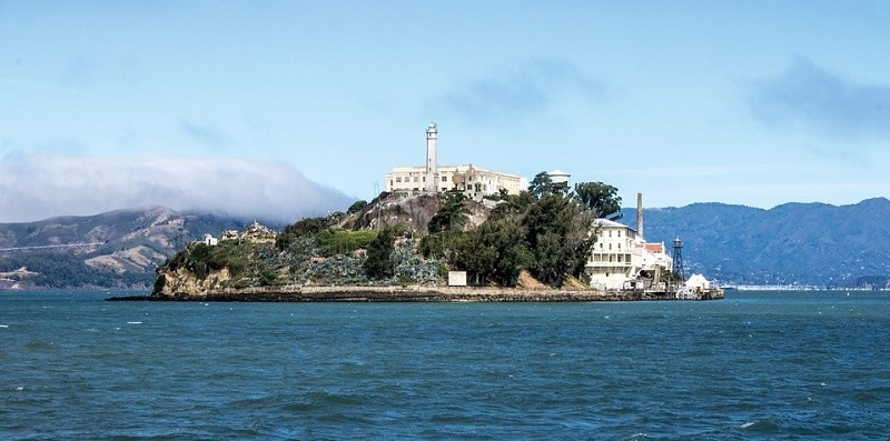 View of Alcatraz from across the water