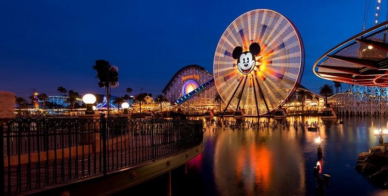 Paradise Pier at Disneyland Los Angeles