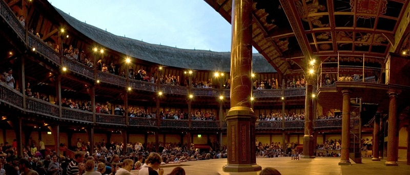 Inside the Globe Theater in London