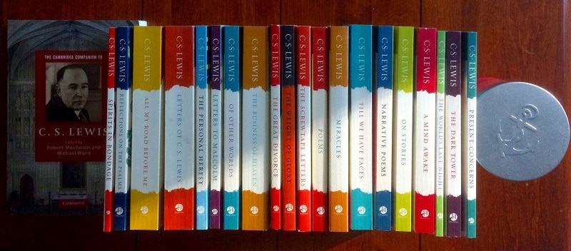 A collection of C.S. Lewis' books