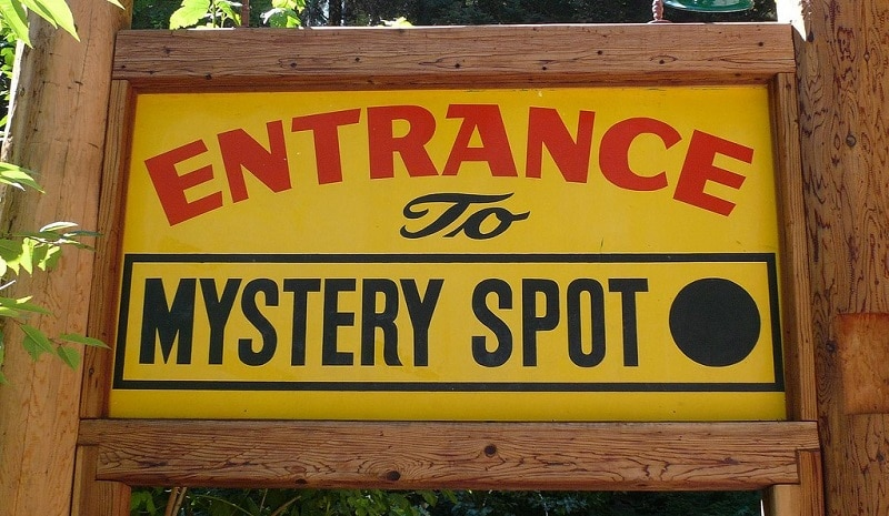 Sign denoting the entrance to the Mystery Spot