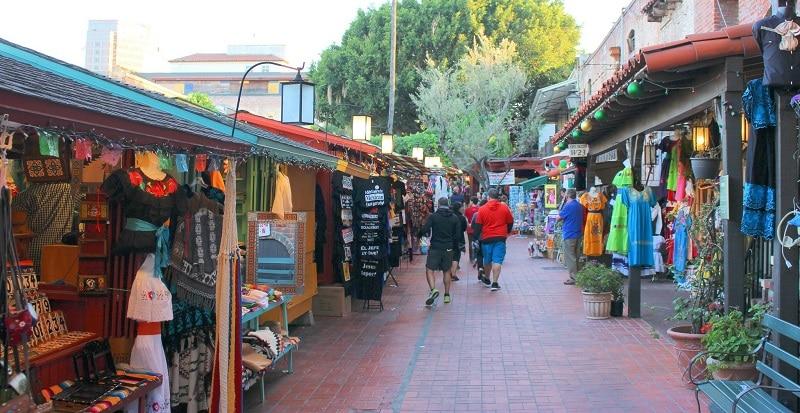 Olvera Street in Los Angeles