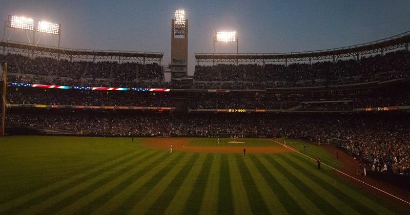 A baseball game in progress at Petco Park
