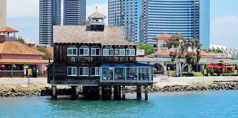 The idyllic Seaport Village Restaurant