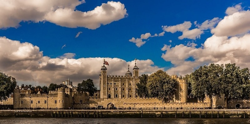 The Tower of London seen from across the Thames