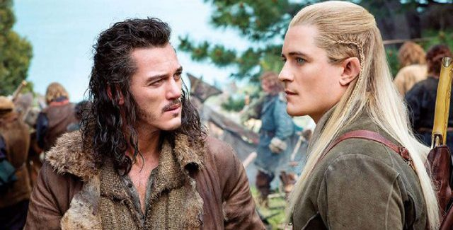 Bard and Legolas in The Hobbit: The Battle of the Five Armies