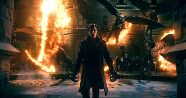 "Aaron Eckhart (""Adam"") stars in Lionsgate Home Entertainment's I, FRANKENSTEIN. Courtesy of Lakeshore Entertainment and Lionsgate."