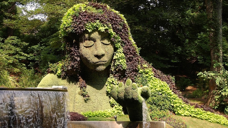 The Earth Goddess topiary at the Atlanta Botanical Gardens