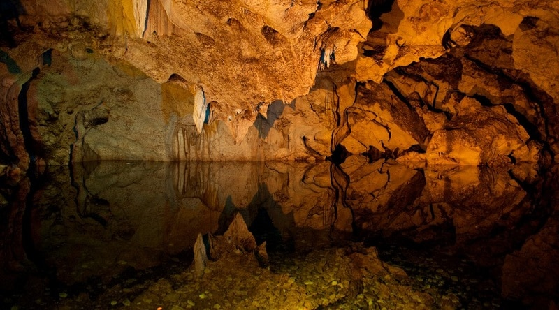 Inside the Green Grotto Caves