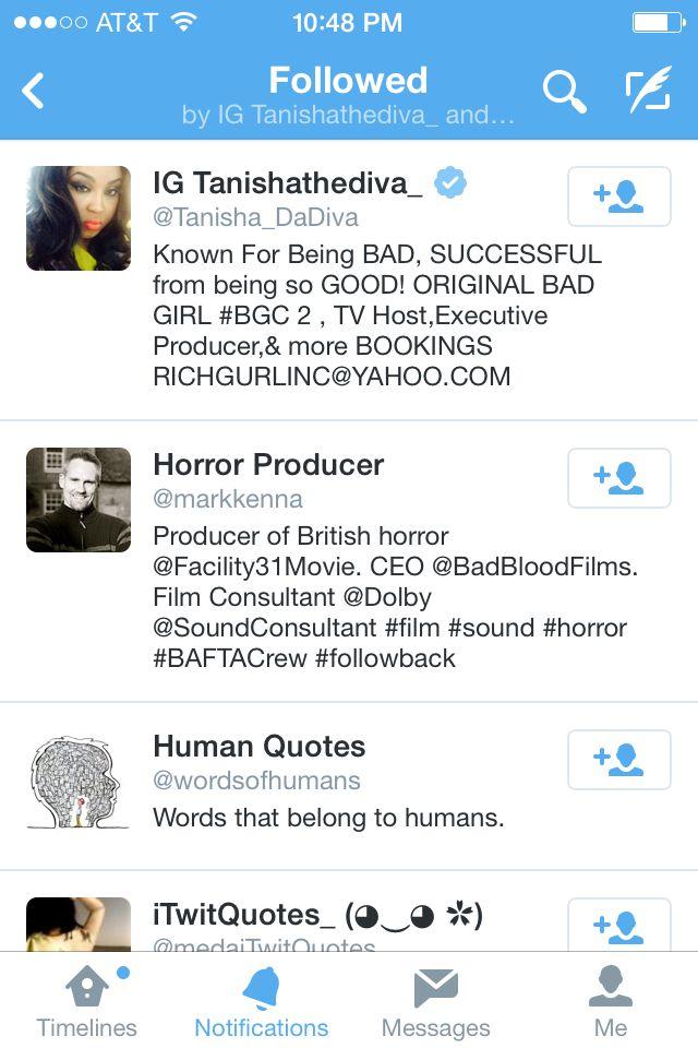 tanisha follow