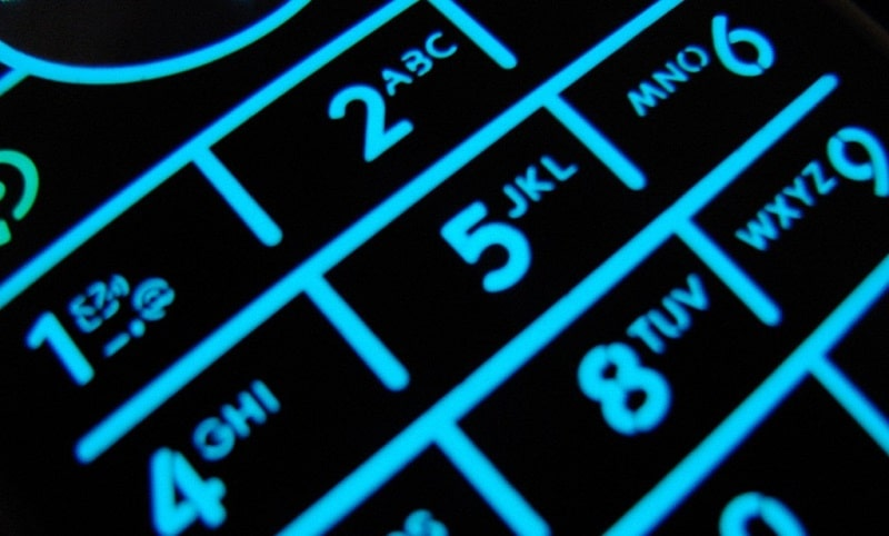 Picture of a cell phone keypad
