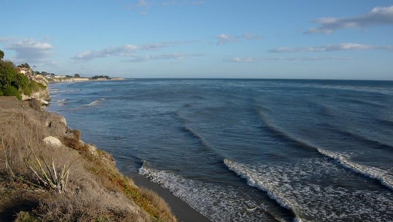 A coastal view of Isla Vista, California