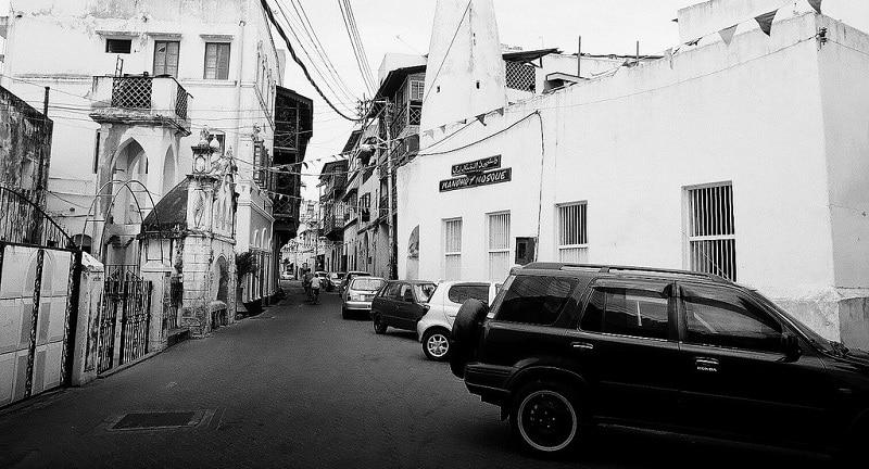 A street in Mombasa, Kenya