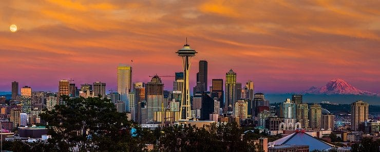 Panoramic view of the Seattle skyline