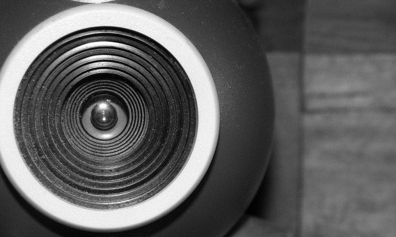 Close-up of a webcam