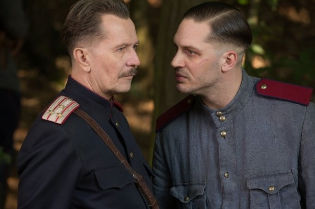 Still of Gary Oldman and Tom Hardy in Child 44. Photo by Larry Horricks - © 2013 Summit Entertainment, LLC. All Rights Reserved.