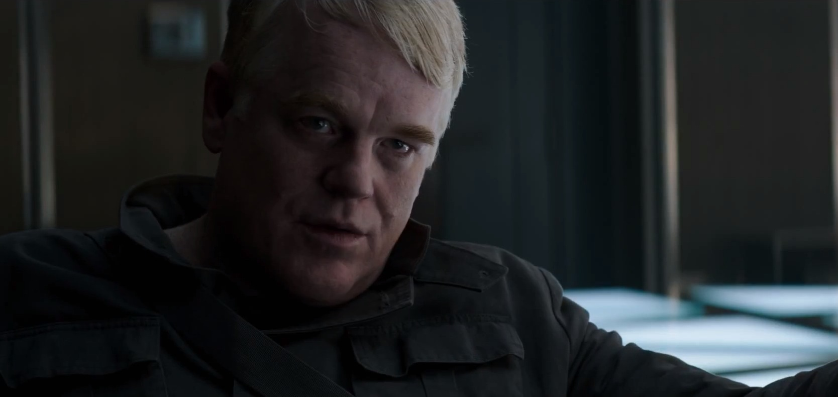 Philip Seymour Hoffman in The Hunger Games: Mockingjay Part 1