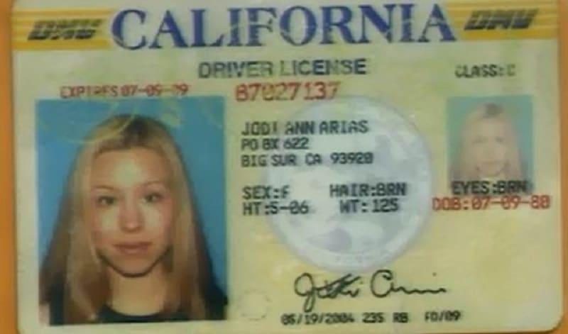 Jodi Arias's driver license