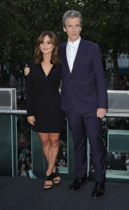 "Jenna Coleman and Peter Capaldi - ""Doctor Who"" TV Series 8 UK Premiere - Arrivals - Odeon Leicester Square - London, UK  Photo copyright by Solarpix / PR Photos"