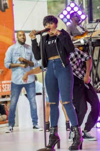 "Jennifer Hudson - Jennifer Hudson in Concert on NBC's ""Today Show"" at Rockefeller Center in New York City - August 19, 2014 - Rockefeller Center - New York City, NY, USA  Photo copyright by MJ Photos / PRPhotos.com"