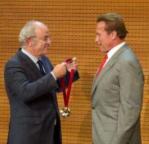 Arnold Schwarzenegger - Arnold Schwarzenegger Receives Madrid Ambassador Medal at Palacio de Cibeles on September 26, 2014 - Palacio de Cibeles - Madrid, Spain  Photo copyright by Solarpix / PR Photos