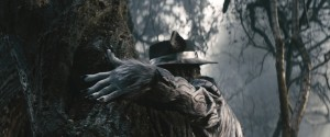"Johnny Depp fills the shoes of the Big Bad Wolf in ""Into the Woods."" Based on the Tony®-winning musical by James Lapine, who also penned the screenplay, and legendary composer Stephen Sondheim, who provides the music and lyrics, the film is in theaters Dec. 25, 2014. ©2014 Disney Enterprises, Inc. All Rights Reserved."