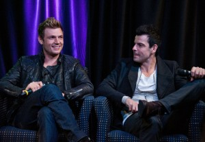 Nick Carter, Jordan Knight - Nick & Knight Visit Mix 106's Performance Theatre in Bala Cynwyd - October 12, 2014 - Mix 106's Performance Theatre - Bala Cynwyd, PA, USA  Photo is copyright by Paul Froggatt / PR Photos