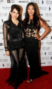 Quynh Paris and Lissa Endriga - Style Fashion Week L.A. Spring/Summer 2015 - Arrivals - The Reef on Broadway - Los Angeles, CA, USA  Photo is copyright by Winston  Burris / PR Photos
