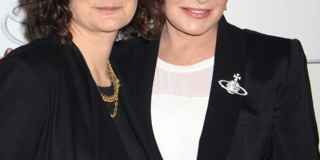 Sara Gilbert and Sharon Osbourne - 24th Annual Environmental Media Awards - Arrivals - Warner Bros. Studios - Los Angeles, CA, USA  Photo is copyright by Izumi Hasegawa / PRPhotos.com