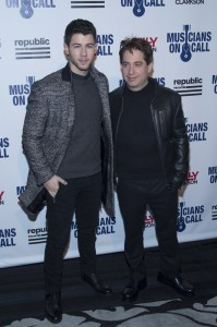 Nick Jonas, Charlie Walk - Musicians On Call's 15th Anniversary Celebration - Arrivals - eSpace - New York City, NY, USA  Photo is copyright by MJ Photos / PRPhotos.com