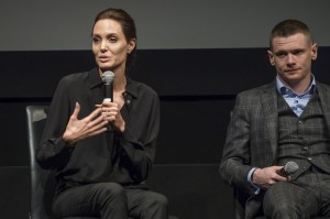 "Angelina Jolie, Jack O'Connell - ""Unbroken"" New York City Screening - Inside - MoMA - New York City, NY, USA  Photo is copyright by MJ Photos / PRPhotos.com"