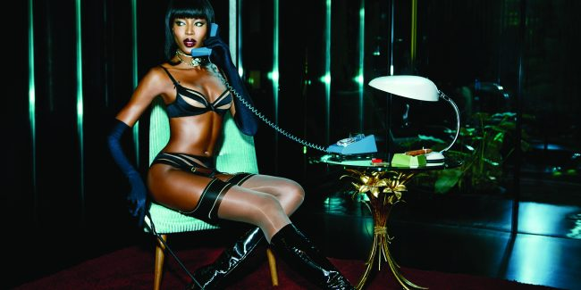Hot: Naomi Campbell is New Face of Agent Provocateur  PHOTOS