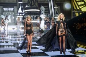 Taylor Swift and Karlie Kloss - 2014 Victoria's Secret Fashion Show - Runway - Earls Court - London, UK  Photo is copyright by Landmark / PR Photos