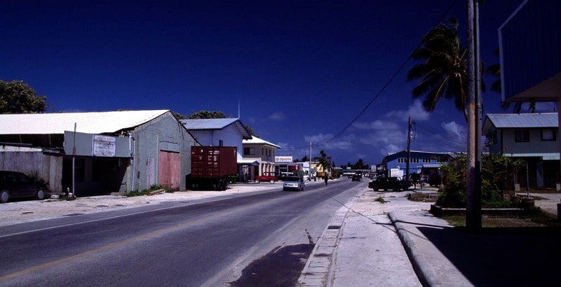 Road on Marshall Islands