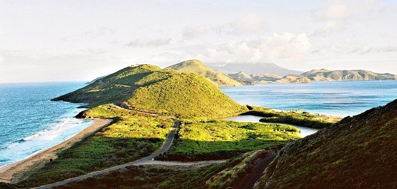 View of Saint Kitts and Nevis