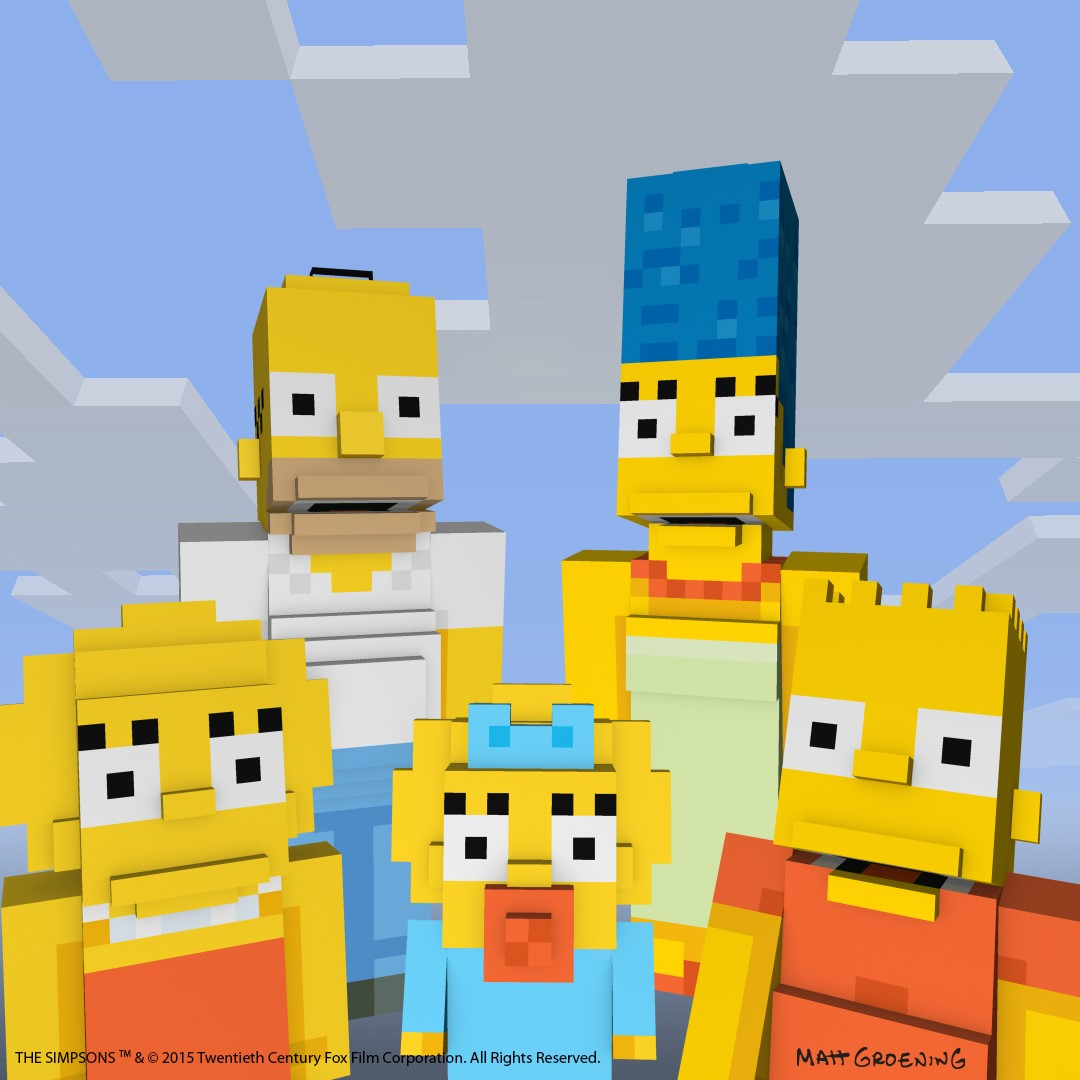 The Simpsons Skin Pack Now Available for Minecraft