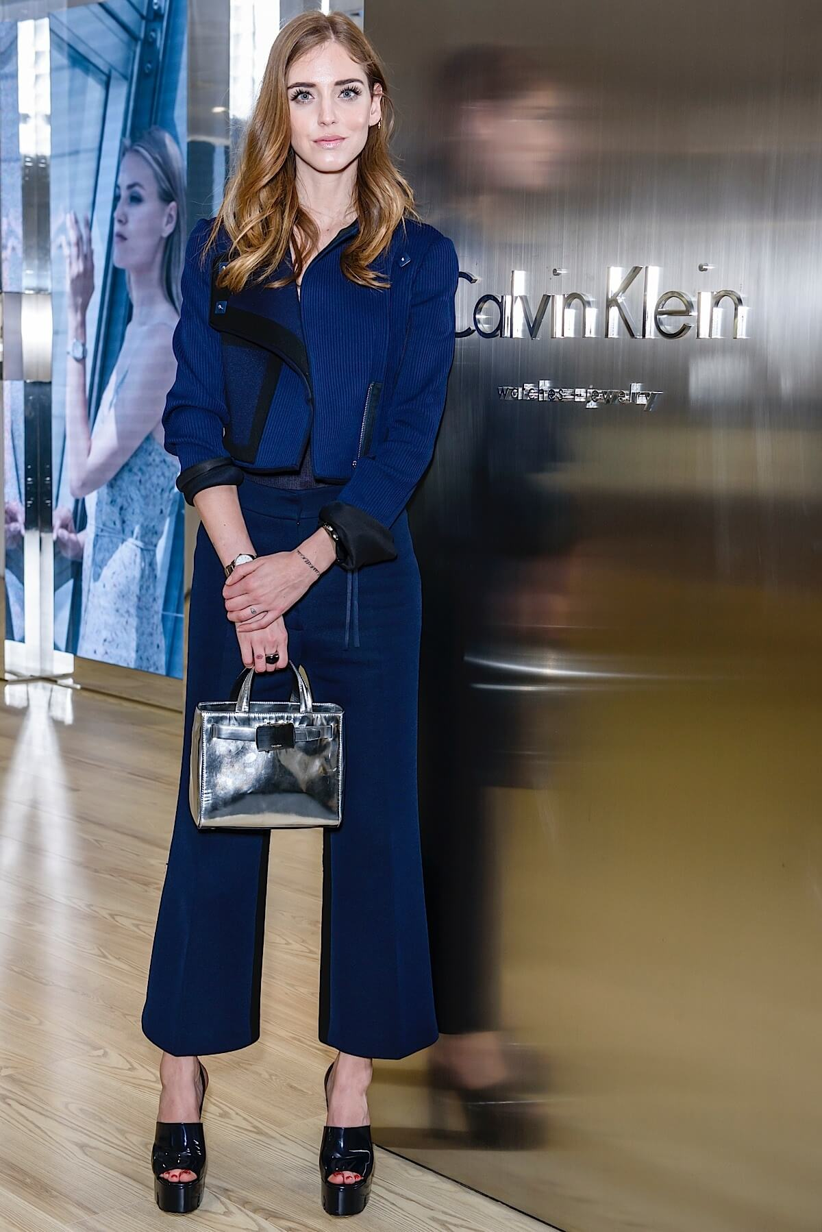 BASEL, SWITZERLAND - MARCH 19:  Chiara Ferragni attends the Calvin Klein Watches & Jewelery booth at Baselworld 2015 on March 19, 2015 in Basel, Switzerland.  (Photo by Clemens Bilan/Getty Images for Calvin Klein)