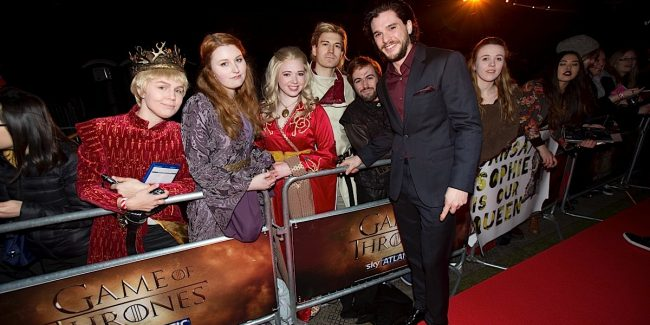 KIT HARRINGTON (JON SNOW).arrives at The Tower of London for the world premiere of Game of Thrones S5 which starts on Monday 13 April on Sky Atlantic ....PIX.TIM ANDERSON