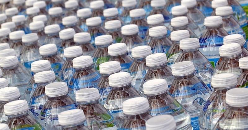 Lots of bottles of water